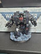 Warhammer 40k Dark Angels Army Leviathan Dreadnought Painted Tabletop+ And Based