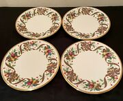 Lenox Holiday Tartan Accent/luncheon Plates Set Of Four 9 3/8 New W/ Tags