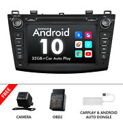Obd+cam+carplay+for Mazda 3 10-13 Android10 Car Stereo Cd Player Aux Usb Dvd Gps