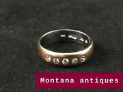 Vintage Rare Soviet Russian Platinum And Gold Womenand039s Ring With Diamonds Ussr