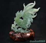 China Natural Xiu Jade Jadeite Feng Shui Animal Cock Rooster Chicken Statue