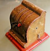 Toy Old Sheet Metal Case Cash Register Miniature Accessory Grocery Years