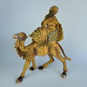 Fontanini Wiseman On Camel Made In Italy Nativity 16.5 Tall. - Defect