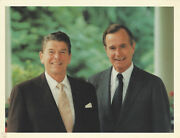 Photograph Ronald Reagan George H.w. Bush Credit To Michael Evans Of White House