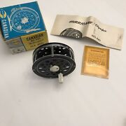 Vintage Hurricane Olympic Canadian Fly Fishing Reel Model 440 W/ Box And Papers