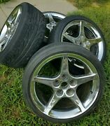 Very Rare 4 Saleen Mustang Le Mans Chrome Wheels 18 Inch W/tires