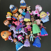 Girls Toy Figurine Lot Fisher Price Little People Disney Princess Assorted As Is