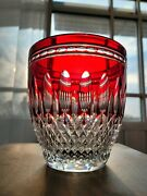 Waterford Clarendon Ruby Red Cut To Clear Crystal Ice Wine Champaign Bucket