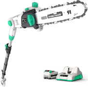 Litheli Cordless Pole Saw 10″, 40v Pole Saws For Tree Trimming, Battery Pole Saw