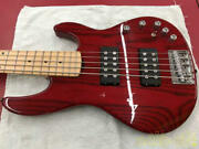 Esp Ap-sl5 S1311202 Electric Bass With Soft Case Safe Shipping From Japan
