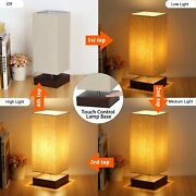 Touch Square Bedside Modern Table Nightstand Lamp Minimalist [🔥us Stock🔥]