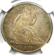 1876-cc Seated Liberty Half Dollar 50c Carson City Coin - Certified Ngc Au55