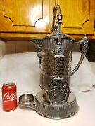 Antique Silver Plated Tilt Pitcher With Stand. 1853-1859 Taunton Silver Plate Co