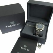 Tag Heuer Aquaracer Cay2112-2 Chronograph Menand039s Automatic Ss Navy Dial 45mm