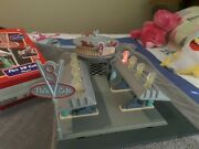 Disney Pixar Cars Floand039s V8 Cafe Playset Working Lights Flo And Ramone Included