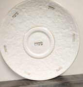 Vintage Lenox Judaica Passover Seder 13andrdquo Charger / Plate Made In Usa Nice