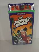 New Sealed The Muppet Movie Jim Henson Vintage 1993 Vhs W/ Watch