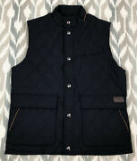 Polo Golf Spyglass2 Mens Water Repellent Full Snap Vest Navy Size M