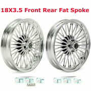 18x3.5 Fat Spoke Wheels For Harley Touring Electra Glide Flht 2000-2008 Baggers