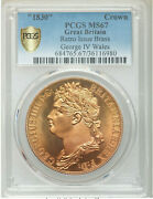 1830-dated Great Britain George Iv Brass Ina Retro Fantasy Wales Crown Ms67