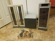 Brookstone Acousticlear 3cd - Stand Up Cd Player W/ Remote Rare - Genuine