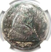 1869 Seated Liberty Silver Dollar 1 - Ngc Uncirculated Detail Unc Ms - Rare