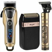 Professional Barber Hair Clipper Rechargeable T-outliner Finish Cutting Machine