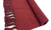 Braided Rug Cotton Area Rug Hand Woven Reversible Floor Rug Pure 2and039 X 3and039 Red