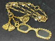 Magnifying Glass Glasses Motif Coco Necklace Bijou