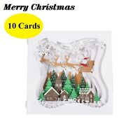 3d Pop Up Greeting Cards 10 Pc Christmas Seasonal Holiday Gift Family Pack Party