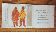 Indian On Matchbox Cover Iroquois Spain -e16