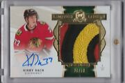 2019-20 Ud The Cup Kirby Dach Limited Logos Rookie Logo Patch Auto 26/50 Rc Ssp