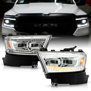 [sequential]full Led Projector Head Lights Lamps Pair For 2019-2021 Ram 1500