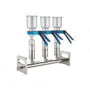 Lab Safety Supply Vacuum Manifold 3-place Glass Funnel 46z316