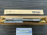 Mitutoyo No. 146-134 2-3 Id And Od Groove Micrometer In Original Wooden Case