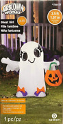 Gemmy 3 1/2 Airblown Inflatable Ghost Girl W/trick Or Treat Bag Xmas Holiday New