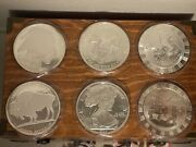 Lot Of 6 5 Troy Ounce 999 Silver Rounds Buffalo Nickel, Eagle, Poker Chip 30oz