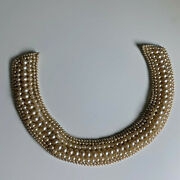 Vintage Japan Estate Jewelry Faux Pearl Necklace Collar Choker Japan Costume