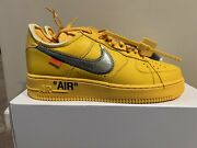 Nike X Off-white Air Force 1 Low University Gold Size 9m In Hand Ships Fast