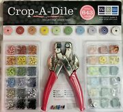 Crop-a-dile Hole Punch Eyelet Snap Setter 643 Piece Kit