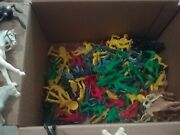 Lot Vintage Plastic Marx, Mpc, Multiple Toy Makers Tim-mee Toys Cowboys, Indian