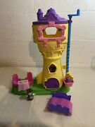 Fisher Price Little People Disney Princess Rapunzel Tower W/figures Sounds Works