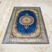 4and039x6and039 Blue Home Decor Indoor Rugs Handmade Living Room Oriental Carpets Z518a