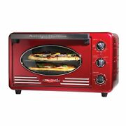 Retro Convection Toaster Oven Large-capacity 0.7-cu. Ft. Multi-functioning Red