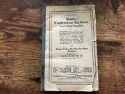 Vintage Oliver Machinery Co Catalog 22 Woodworking Factory Supplies 1919 Ptr