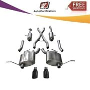 14980blk Corsa 304 Ss Cat-back Exhaust System W/split Rear Exit For Jeep 11-21