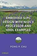 Embedded Sopc Design With Nios Ii Processor And Vhdl By Pong P. Chu - Hardcover