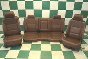 16and039 Silverado High Country Brown Leather Heat Cool Power Buckets Seats Backseat