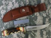 Schrade 153uh Uncle Henry Golden Spike Leather Sheath 1st Production Run Nos
