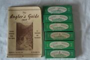 6 Vintage Tuway Wobbler Spinner Fishing Lures In Box + 1947 The Anglers Guide